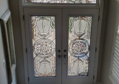 Eternity Stained Glass Door Insert