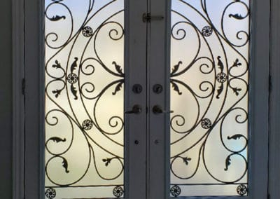 Wrought iron Door Insert - Juliana