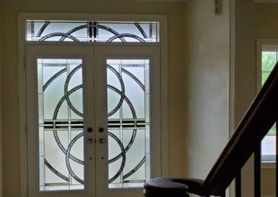 Nebula Stained Glass Door Insert