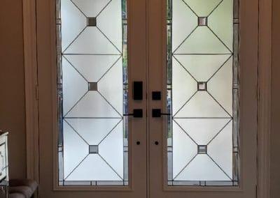 Cubix Stained Glass Door Insert