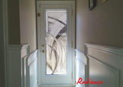 Stained glass door insert