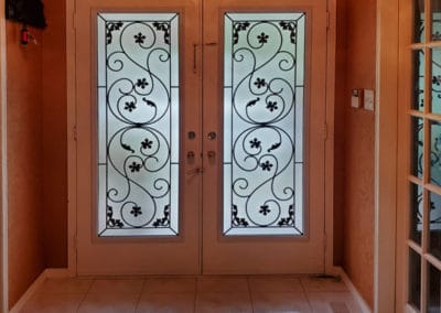 Sharona Wrought Iron door insert by What A Pane