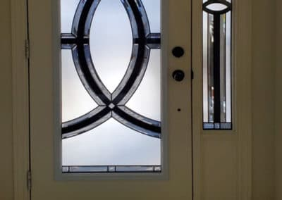 Vortex Single door, decorative glass by What A Pane