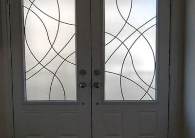 Element wrought iron door inserts by What A Pane