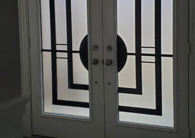 Wrought Iron Door Design Insert by What A Pane