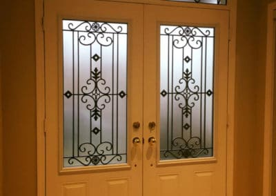Florence Wrought Iron Door Insert by What A Pane