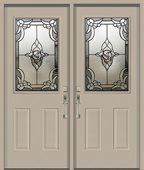 Rosetta Stained Glass Door Insert by What A Pane