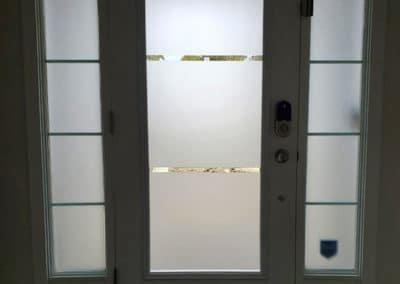 Sanndblast Door Insert by What A Pane