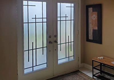 Enigma Wrought Iron Door Inserts by What A Pane.