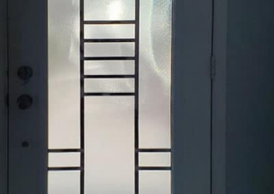 Quantum wrought iron door insert by What A Pane