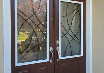 Element wrought iron door inserts Toronto