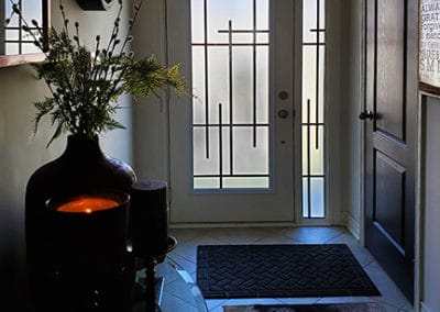 Enigma Wrought iron Door Insert by What A Pane