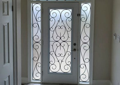 Guardian wrought iron Door Insert design by what A Pane