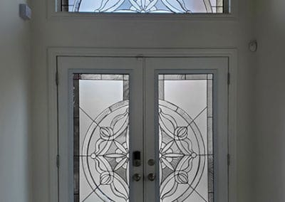 Solstice Stained Glass door insert by What A Pane