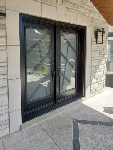 Ultra Wrought iron Door Inserts by What A Pane