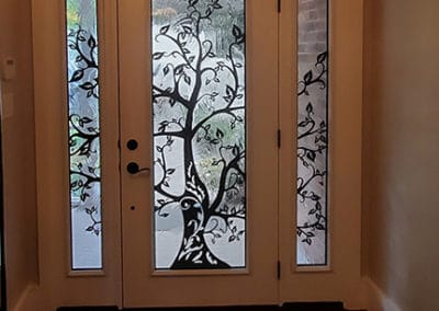 Laser Cut Door insert by What A Pane