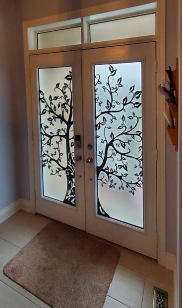 Woodland Laser cut Iron design by What A Pane