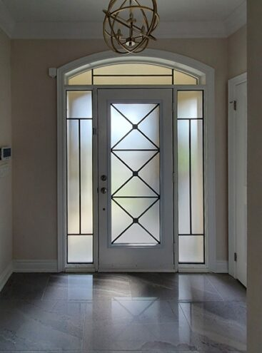 Xclusive Wrought iron door Insert by What A Pane