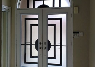 Constellation Laser Cut Iron Door Insert