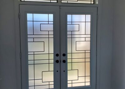 Charisma Wrought iron Door Insert by What A Pane