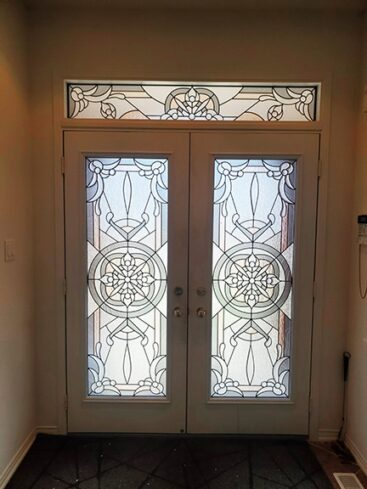 Etwenity Stained Glass Door Insert by What A Pane