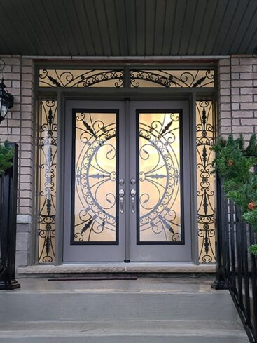Harmony Wrought Iron Door Insert by What A Pane