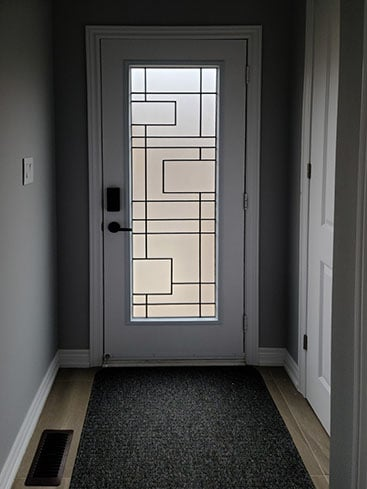 Charima Wrought Iron Door Insert by What A Pane.